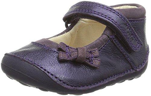 Clarks Kids Baby Mädchen 42 Krabbelschuhe, Violett (Purple Leather), 21 EU