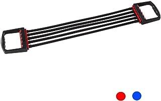 フィットネスラリー非春多機能男性と女性の足首腕の力の胸のエキスパンダー (色 : 青)