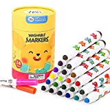 Jar Melo Washable Markers for Kids;24 Count,Non-Toxic,Toddler Marker,Kids...
