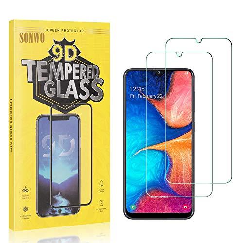 2 Stück Displayschutzfolie Kompatibel mit Galaxy A20 / Galaxy A30 / Galaxy A50, SONWO Panzerglas Schutzfolie für Samsung Galaxy A20 / Galaxy A30 / Galaxy A50, Gehärtetes Glas Schutzfolie