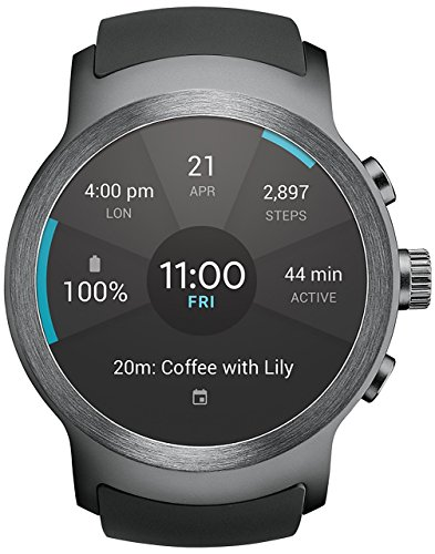 LG Watch SPORT Wi-Fi Unlocked GSM Smartwatch P-OLED Display Titan / Silver W280A (Renewed)
