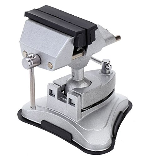 Yangge Schraubstock-Vakuum-Saugtisch Schraubstock 360-Grad-Universal-Vakuum-Saugtisch Verstellbarer Tisch aus Aluminiumlegierung Tischschrauben-Reparaturwerkzeuge