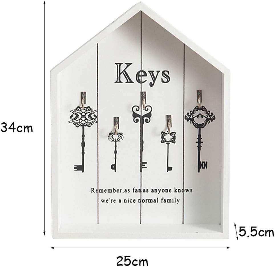 Style 4 Margueras 1 x Wooden Wall Key Cabinet Key Storage