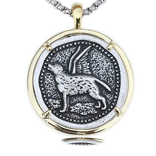 xtszlfj Labrador Retriever Collar Cachorro Perro Colgante joyería Metal Brillante Chic Pet Memorial
