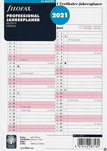 Filofax Kalendereinlage A5 Professional Jahresplaner (deutsch)2021
