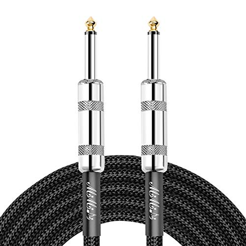 Guitar Instrument Cable 1/4 inch Color Tweed Jacket Instrument Cable 10 ft for...