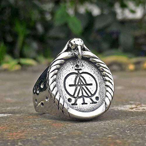CHCO Herren Silber Farbe Wikinger Edelstahl Biker Ring Vintage Celtics Axt Krieger Berserker Symbol Nordischer Schmuck 10 1