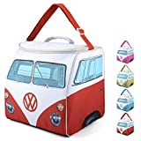 Volkswagen Sac glacière VW, Sac Isotherme Combi VW, Sac à déjeuner et Panier-Repas pour Les Pique-niques, Rouge