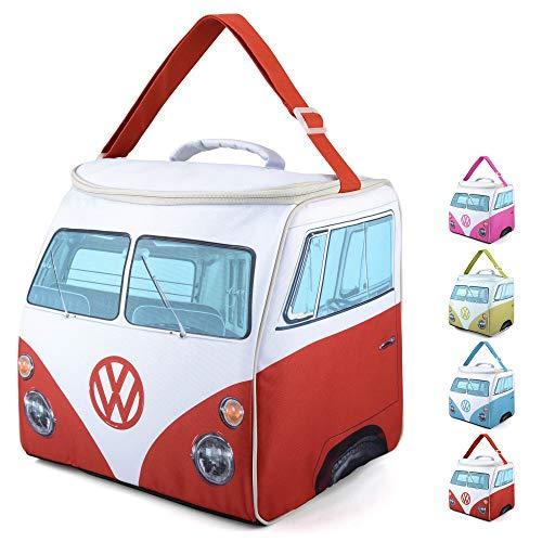 Volkswagen Große Kühltasche, VW Bulli Isolierte Picknicktasche, Lunchtasche, Mittagessen Tasche, VW-Geschenke, Rot