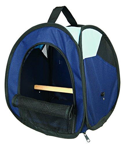 Trixie 5906 Transporttasche, 27 × 32 × 27 cm, dunkelblau/hellblau