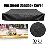 Maius Sandbox Cover, Square Dustproof Protection Sandbox Canopy with Drawstring, Waterproof Sandpit Pool Cover, Avoid The Sand and Toys Contamination (Black, XL(200200cm))