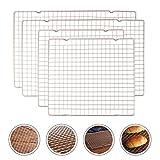 Lawei 4 Pack Cooling Racks Set Baking Racks - 40 x 25 cm & 28 x 25 cm (Golden)