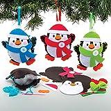 Baker Ross Kits Costura Decoración Pingüino (Pack de 3) para Manualidades y Decoraciones...
