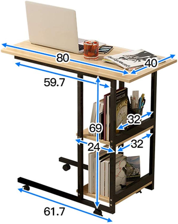 LHA Desks Portable Bed Table Student Desk Simple Mobile Small Table (color   D)