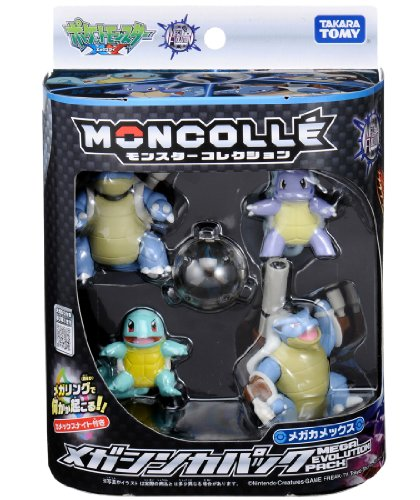 TAKARA TOMY Pokemon Monster Collection Mega Evolution Pack Mega Blastoise image