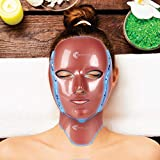 LED Mask for Skin Rejuvenation Light Therapy & Microdermabrasion Facial Mask For Face & Neck - Anti-Aging 7 Color Photon Treatment - Red Light Up Beauty & Skin Care Device for Men & Women… (Ross Gold)