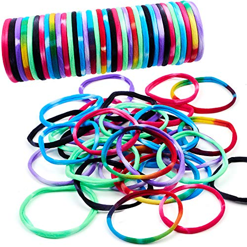 vamei 36pcs bandas elásticas para el cabello Cintas para el pelo Titulares de cola de caballo Bobbles de pelo multicolor Cintas para el cabello para niñas Accesorios para el cabello de bricola