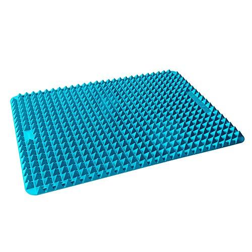 Collory Plaque de cuisson en silicone avec picots de 500 Pyramides - L'alternative à la Papier sulfurisé - Tapis de cuisson réutilisable pour plaque de cuisson anti-adhérentes   la chaleur jusqu'à 240 °c   Taille env. 39 x 27.5 x 1.2 cm   Graisse alimentaire, bras et saine cuisson   (sans BPA) noir