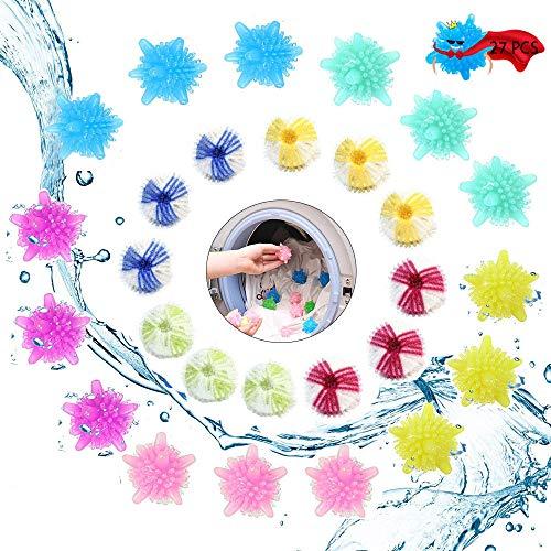 Anyingkai 27PCS TierhaarentfernerWaschmaschine,Wäschekugel Tierhaare Waschmaschine,Tierhaarentferner Waschmaschine Ball,Waschmaschine Ball Haare,Haustier Haarentferner für Wäsche