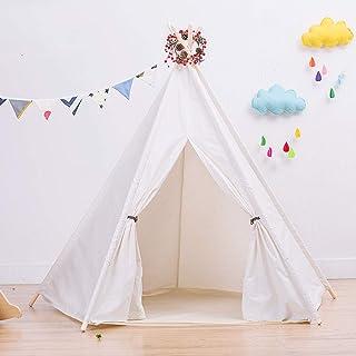 Barntält barn leka Teepee tält för baby inomhus och utomhus lek hopfällbara tipi-tält med roliga dekorationer barns inomhu...
