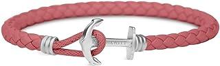 PAUL HEWITT Bracelet Femme & Homme PHREP Lite - Cadeau Homme & Femme, Bracelet Cuir, Fermoir Ancre en INOX (argenté)