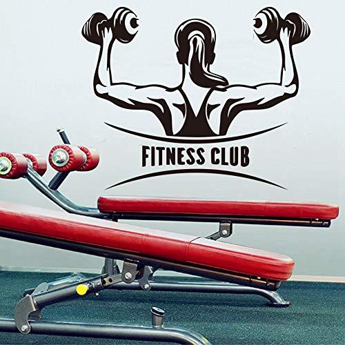 hetingyue Kreative Gym Fitness Club wandaufkleber Gym Dekoration Fitness Sport Sport wandtattoo Dekoration mädchen wandbild Papier 104x82 cm