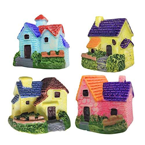 ZJW 4pcs Miniature Dollhouse Ornaments Accessories Bonsai Craft Garden Resin Landscape DIY Villa Decor, Birthday Gift for Children