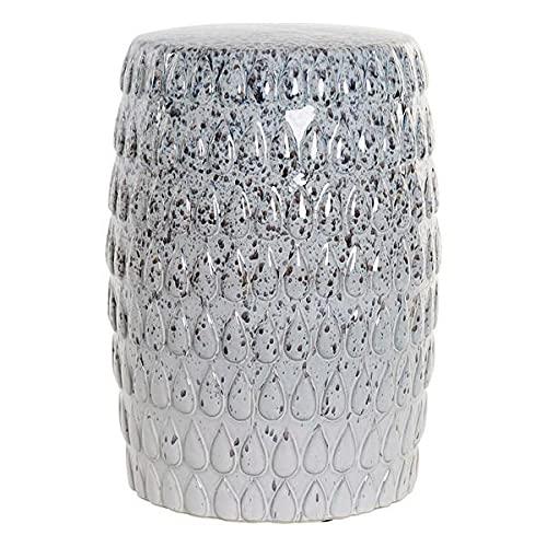 Dekodonia S3008663 Mesa Auxiliar, Blanco, Porcelana, 33 X 33 X 45 Cm, Materiales Varios