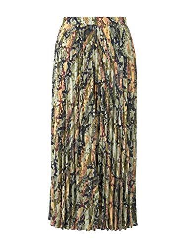 TOM TAILOR DENIM voor vrouwen rok plissé midi-rok met slangenprint