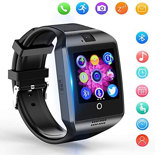 XTHAILIANG Smartwatch, Reloj Inteligente Android con Ranura para Tarjeta SIM, Reloj Inteligente para Hombres y Mujeres, Reloj Deportivo, Reloj Deportivo Cronómetro, Compatible con iOS Android,Negro