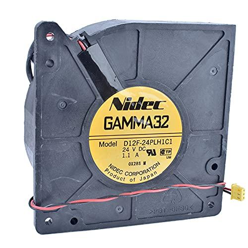 unisex NIDEC Columbus Mall GAMMA32 D12F-24PLH1C1 12cm 12032 Turb Centrifugal 1.1A 24V