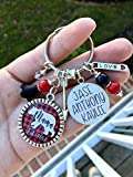 Personalized Mama Bear gift Keychain necklace or bracelet with kids names, Mama can be changed to any title up to 9 childrens names and Your Choice of Buffalo Plaid Color