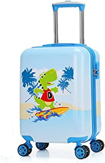 YCYHMYF Cute Girl Suitcase Elementary School Student Trolley Case Double-Sided Suitcase Blue 19 Inch