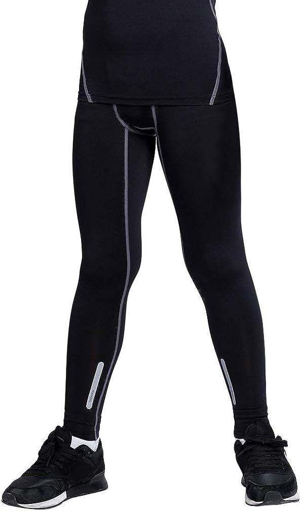 TERODACO Boys & Girls Compression Althetics Pants Base Layer Leggings Soccer Basketball Running Tights