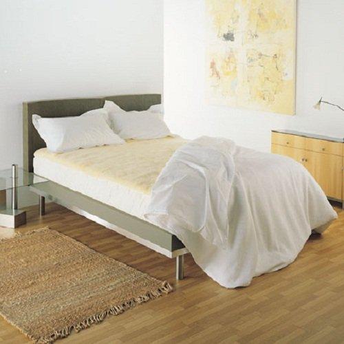 Bowron, gesteppt natur Elfenbeinfarben echtem Schaffell Bett Topper (Einzelbett/Doppelbett/Queen/King Größen), Elfenbeinfarben, King Size
