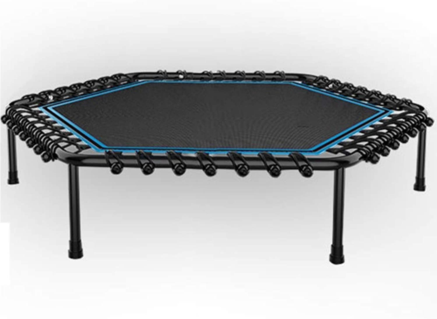 HANSHAN Trampoline, Trampoline,Life Bounce Mini Trampoline Fitness Body Exercise for Adults Kids bluee Black 2 Size
