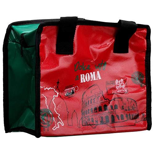 Desconocido CMP Bolsa refrigerante para Alimentos Ciudades 23 x 12 x 21cm (Rojo Roma)