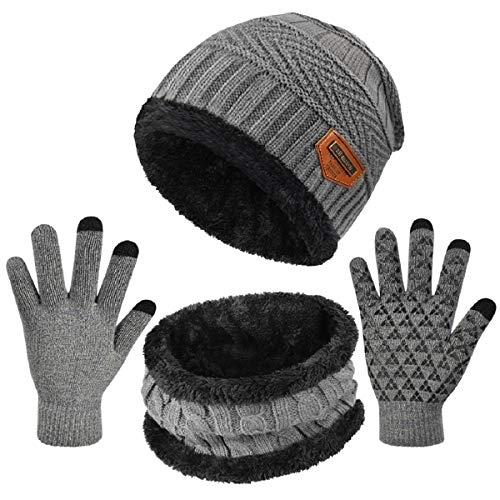 Set de Bufanda y de Gorro para Beb/é Ni/ña Ni/ño Invierno C/álido Sombrero y Beanie Bufanda de Punto Pa/ñuelos para el Cuello Unisex para Infantile 0-3 a/ños
