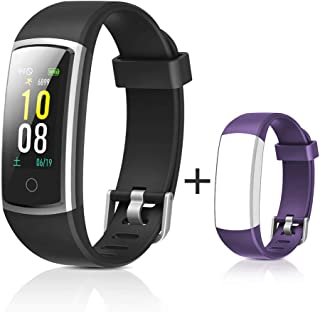 GRDE Smart Bracelet Fitness Tracker Sport Watch with Step Counter & Heart Rate Monitor, Activity Tracker, Pedometer Watch Connected GPS
