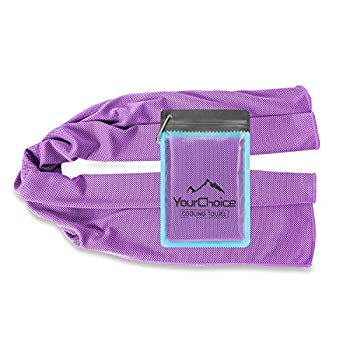 Your Choice Cooling Towel Snap Cool Towels for Neck Use as Cooling Neck Wrap Scarfs or Bandanas Great Gift for Women in Hot Summer Purple 12 x 40 Inch