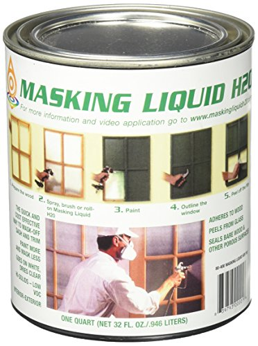 ASSOCIATED PAINT Available 157026 80-400-4 H20 Masking Liquid, 1 Quart, Clear