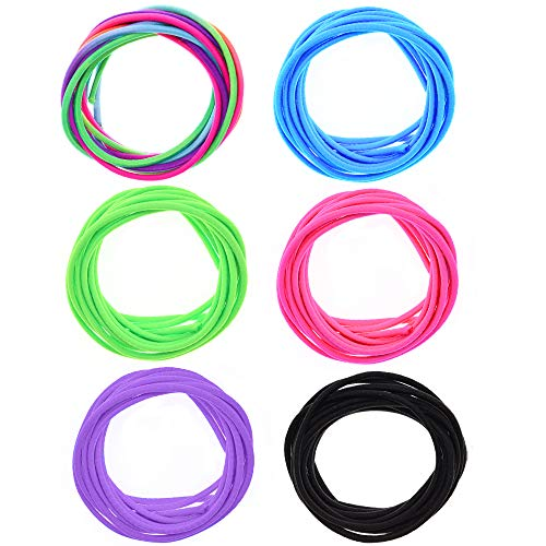Fun-Weevz 12 Meters Round Elastic Cord for Jewelry Making, 2.5mm Bands for Sewing String for Masks, Necklace and Bracelet Cords, Craft Band Material Supplies, Stretchy Fabric Rope for Crafts