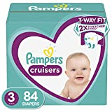 Diapers Size 3, 84 Count - Pampers Cruisers Disposable Baby Diapers, Super Pack