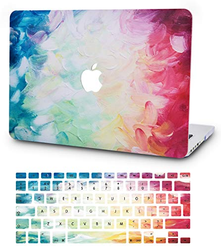 KECC MacBook Pro 13' Case (2020) w/ UK Keyboard Cover Plastic Hard Shell A2289/A2251 Touch Bar (Fantasy)