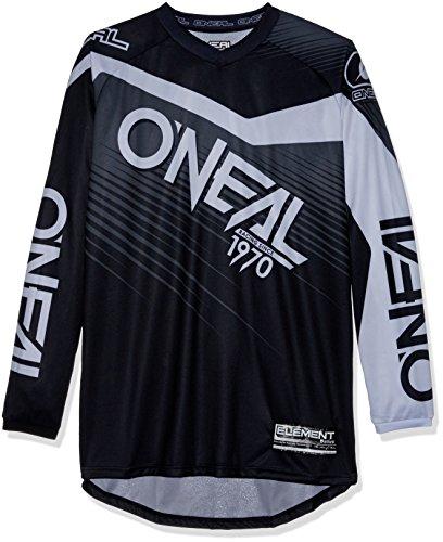 0008-103 Oneal Element Rennkleidung, Motocross-Trikot, Größe M, schwarz-grau