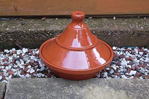Valdearcos - Piatto per Tajine in terracotta, diametro 22 cm, altezza 18 cm