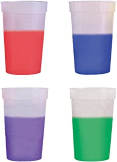 17oz Color Changing Stadium Cup, Set of 12, Frosted Assorted - MADE IN USA