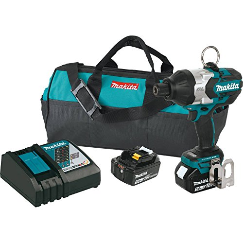Makita XWT09T 18V LXT Lithium-Ion Brushless Cordless High Torque 7/16' Hex Impact Wrench Kit