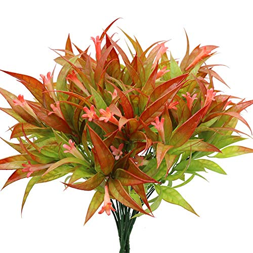 GKONGU Fiori artificiali Morning Glory,4 Pezzi mazzi di fiori artificiali,piante Finti di Resistente ai Raggi UV per Interni Esterni casa ufficio Giardino Decorazione di Nozze