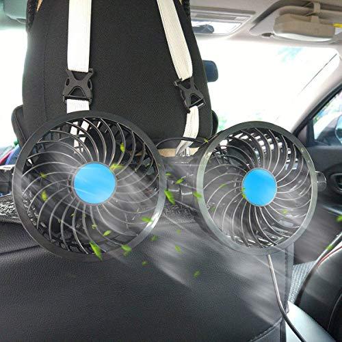 STYLINGCAR 12V Auto Fan Sitz Ventilator Autolüfter Kfz Lüfter Rücksitz (Auto Fan)